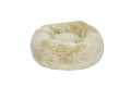 Faux Fur Donut Bed MED Cream 70cm