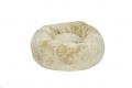 Faux Fur Donut Bed LRG Cream 90cm