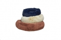 Faux Fur Donut Dog Bed XS 50cm Black