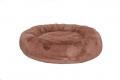 Faux Fur Donut  Bed MED Brown 70cm