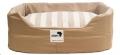 Rectangular Dog Bed Cover Only Med Beige/Stripe