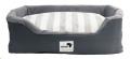 Rectangular Dog Bed Med 75x95cm Grey/Stripe