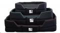Tuffee Rectangular Dog Bed Med 75x95cm Grey Piping