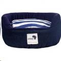Round Dog Bed XL Denim 95cm
