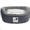 Round Dog Bed XL Grey 95cm