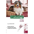 Advantage Large Dogs 4x2.5ml (10-25kg) Red *
