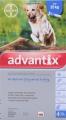 Advantix X/Large Dog 4.0ml 4 pip (25kg+) Blue *