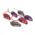 Cat Toy Mouse Ribbon Striped x 6 CAT1025 sos