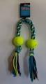 Rope Toy Cotton Bone & Two Balls
