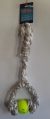 Rope Toy Cotton Sling 2 Knots & Ball 30cm
