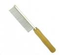 Comb Metal Fine w/Wooden Handle 3x20cm