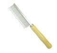 Comb Metal Med w/Wooden Handle 3x20cm