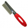 Comb Metal Fine with Red Rubber Handle 4x21cm
