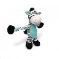 Toy Pulleez Zebra w/Squeakers Charm Pets