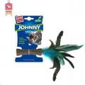Cat Toy Catnip Johnny Stick w/Dble Side Feather Gi