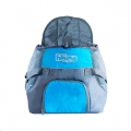 Carrier PoochPouch Front Blue Med Out Hound