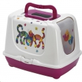 Cat Toilet Trendy Friends Forever Hot Pink