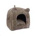 Bed Cat Pet Bedding Teddy Bear Brown Rwood