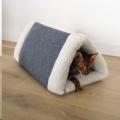 Bed Cat Pet Bedding Snuggle Plush 2in1 Den Rosewoo