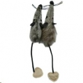 Cat Toy Jolly Moggy Silver. Plush Mice x 2 Rose