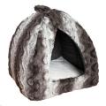 Bed Pyramid Grey Cream Snuggle Plush Rwood