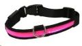 Collar Premium Flashing Pink Lrg Rosewood