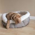 Bed Deep Tweed Teddy Bear Round Sm 50cm Rwood