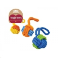 Toy Ball  Rubber & Rope ball Tug Small Rosewood