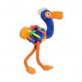 Toy Tough Multi-Texture Flamingo Lge Rosewood sos