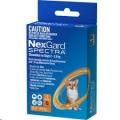 Nexgard Spectra XS(2-3.5kg)Sgl 1'Orange*
