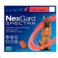 Nexgard Spectra XL(30-60kg)Sgl 1'Red'*