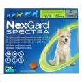 Nexgard Spectra Med(7.6-15kg) 3 Pack Green *