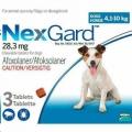 NexGard 4.1-10kg (1.25g) Med Three  (Blue)*