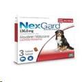 NexGard 25.1-50kg (6g) GG Three (Red)*