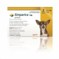 Simparica 5mg Tabs 3 (1.3-2.5kg) Yellow *