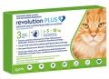 Revolution Plus Cat (5.1-10kg) Green 3 Pip *