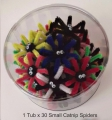 Cat Toy Spiders Small Asst Tub of 30
