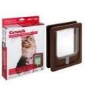 Dog Door Wood Medium Brown 320x270mm