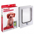 Dog Door Wood Tunnel Small White 240x180mm