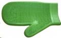 Massage Glove Rubber Lime Green Sprogley