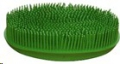 Face Brush Oval Rubber Lime Green Sprogley
