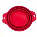 Bowl Collapsible Rubber Bowl Red