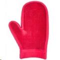 Massage Glove Rubber Red Sprogley