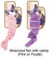 Cat Toy Fish w/catnip Motorized 19cm Purpl Bestpet