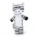 Dog Toy Plush Zebra Standing Hylas Beeztees