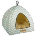 Cat Bed Tasmania Tipi Bl/Wht 40x40x35cm SBO M-Pets