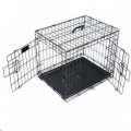 Wire Crate Voyager Med 76x48x53cm Blk M-Pets