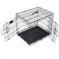 Wire Crate Voyager Lge 91.5x58.5x63.5cm Blk M-Pets
